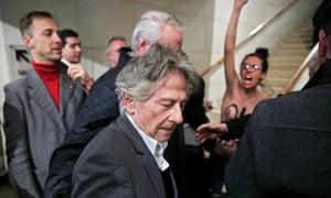 Roman Polanski arrives at La Cinematheque for the launch of his retrospective