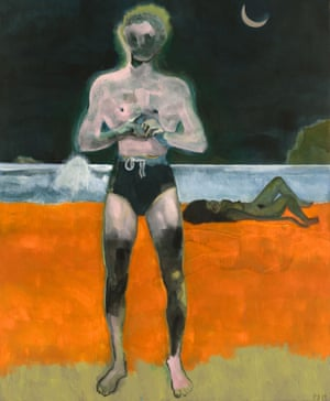 Peter Doig's Bather (Night Wave)