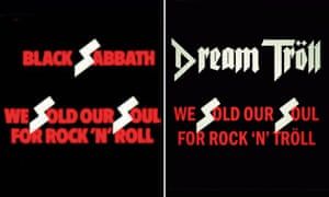 Black Sabbath's We Sold Our Soul For Rock 'N' Roll (left) and the Dream Tröll artwork.