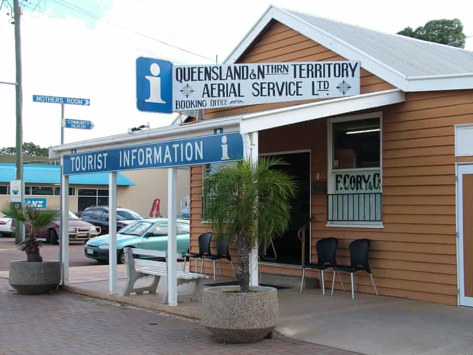 A replica of the original Queensland and Northern Territory Aerial Service Ltd (Qantas) office in Longreach.