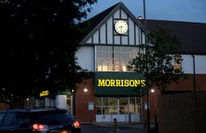 A Morrisons supermarket in Weybridge, Britain.