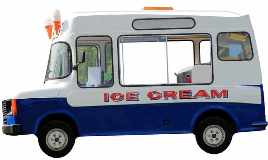 Side view of ice cream van