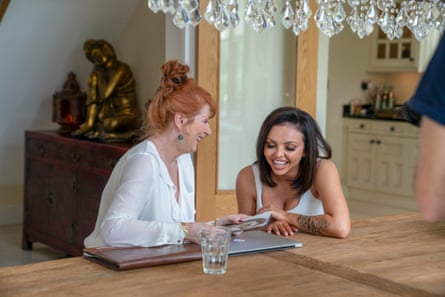 Jesy Nelson with Liz Ritchie in the forthcoming BBC documentary Odd One Out.