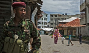 An army crackdown in Majengo, Mombasa, in 2014