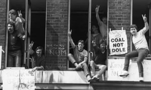 Striking miners from the Orgreave dispute