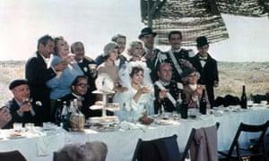 Multilogue in Fellini's Amarcord (1973).