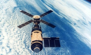 Skylab, the first US manned space station, which was launched on 14 May 1973.