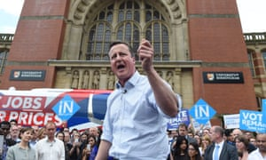 Cameron spoke with his voice breaking as he urged a remain vote.