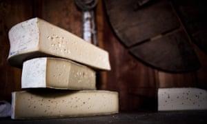Blocks of bitto (cheese).