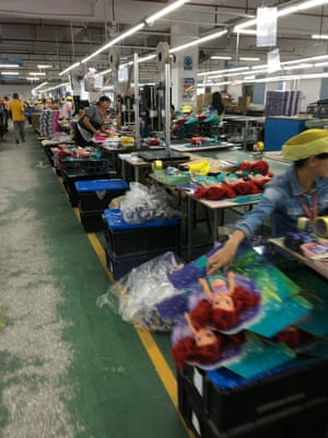 Dolls being produced at the Wah Tung factory