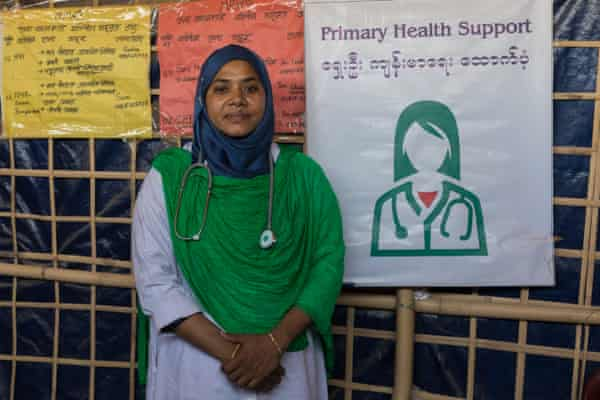 Fatema Akter, at the women's centre in Balukhali camp, Bangladesh