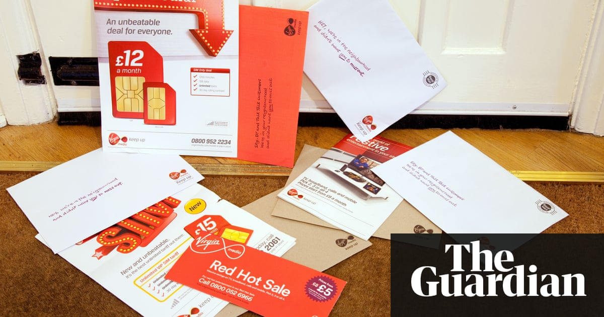 How do we get Virgin Media to junk all this mail? | Money | The Guardian