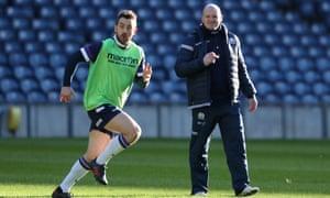 Laidlaw alongside Scotland head coach Gregor Townsend.