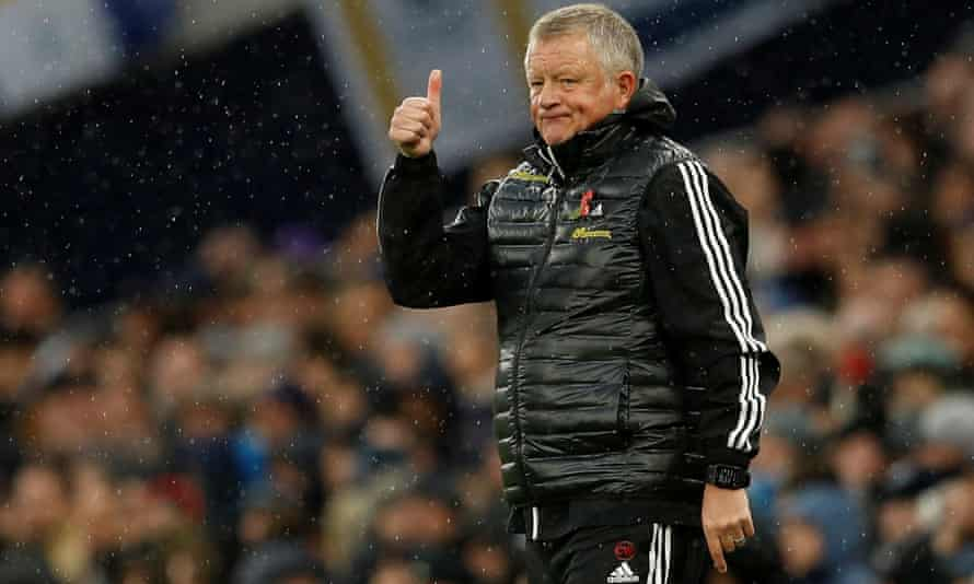Chris Wilder during Sheffield United's recent 1-1 draw at Tottenham. His side are unbeaten away from home since returning to the Premier League.