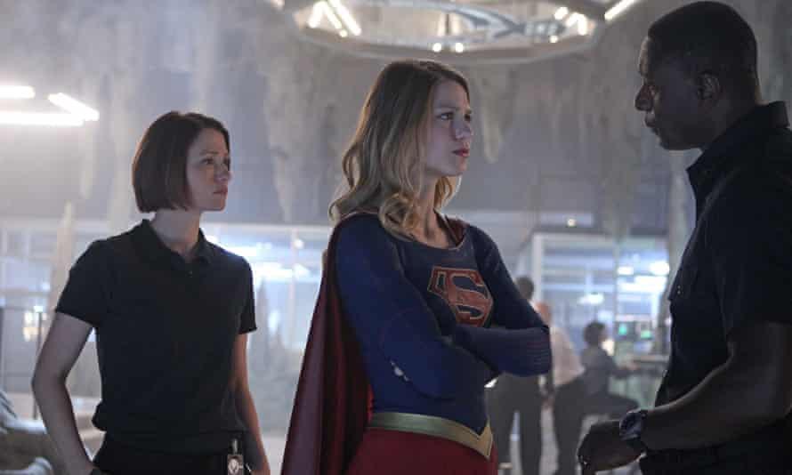 Melissa Benoist as Kara Danvers (aka Supergirl).
