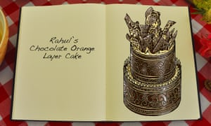 Rahul's Chocolate Orange Layer Cake, an illustration for the Great British Bake Off creation by Tom Hove.