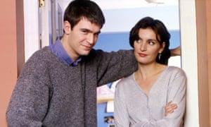 Jack Davenport and Daniela Nardini as Miles and Anna.