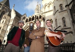 Martin Lewis in 2008 with the band Oystar, who released a novelty record in support of his campaign against bank charges.