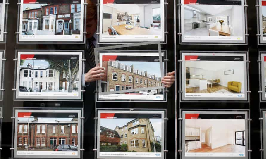 An estate agents' window