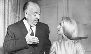 Alfred Hitchcock and Tippi Hedren in 1963.