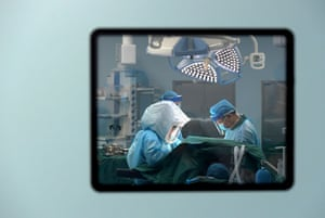 Feng Xiuling conducts surgery on an Aids patient at the Henan Infectious Disease Hospital in Zhengzhou, China.