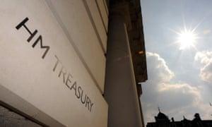 HM Treasury sign