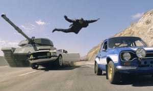 A scene from Fast and Furious 6.