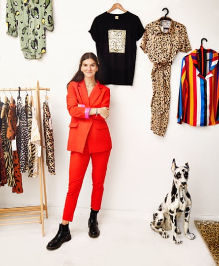 Lucy Anne Tighe of Never Fully Dressed at her shop on the 25.2.19 photographed by Sarah Cresswell for the Observer