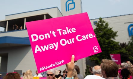 A rally outside Planned Parenthood in St Louis, Missouri.
