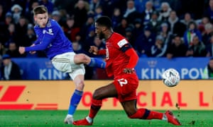 Leicester's Harvey Barnes has made a big impression and despite playing on the left he can use either foot, as shown by his goal against Wigan in the FA Cup.