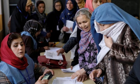 Afghan women at a polling station in Kabul last year