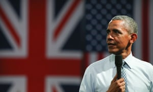 Barack Obama answers questions at an event in central London on 23 April.