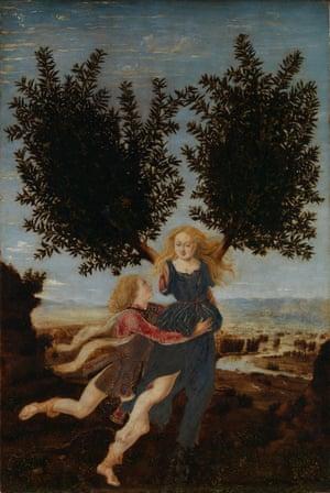 Apollo and Daphne, by Piero del Pollaiuolo