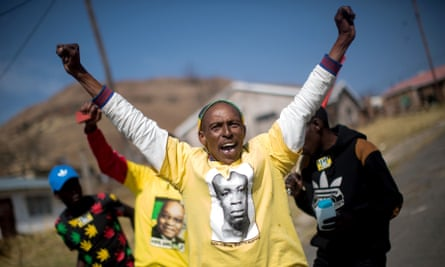 ANC and South African Communist party supporters