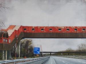 Safe Passage motoway bridge painting by artist Jen Orpin.