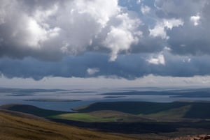 View east from Ronas Hill, Mainland, Shetland