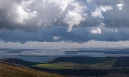 Mainland, Shetland, seen from Ronas Hill.