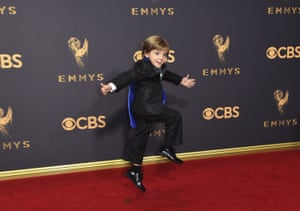Jeremy Maguire from Modern Family arrives at the 69th Primetime Emmy awards.