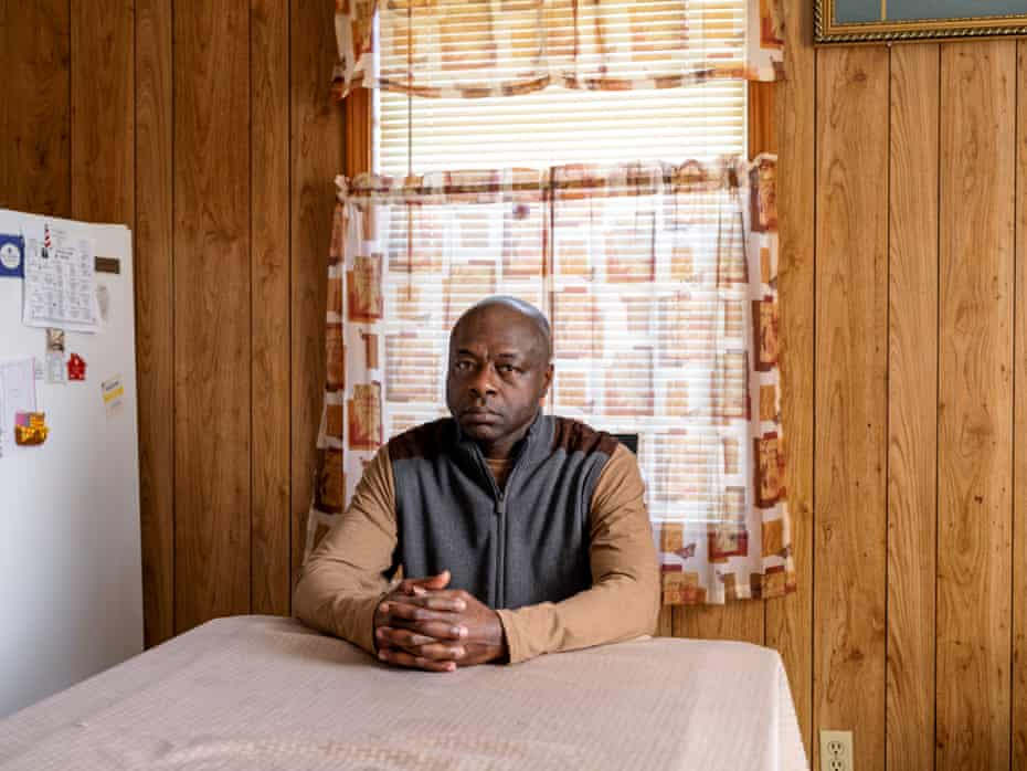 Alfonzo Tucker photographed at his home in Tuscaloosa. CREDIT: Johnathon Kelso for The Guardian