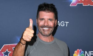 Simon Cowell's new tight-and-bright visage