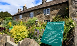A cottage where the first victims of the plague in Eyam died in Derbyshire, UK.
