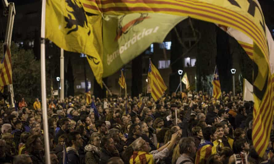 The protest in Barcelona on Saturday, which police said 750,000 attended.