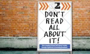Evening Standard billboard