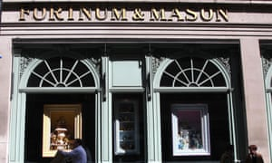 The Fortnum & Mason department store in Piccadilly in central London.
