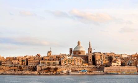 Early winter morning in Valletta, Malta