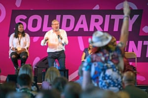 The People's Question Time in the Solidarity tent