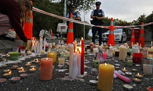 A vigil to commemorate victims of the Christchurch shooting outside the Al Noor mosque