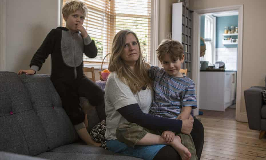 Tracy Strassburg and her sons Sebastian, 7, and Charlie, 5, have been forced to move house six times in seven years.