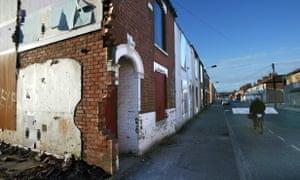 Empty houses in the Springburn Street area behind Hull's Hessle Road.