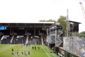 Construction at Craven Cottage.